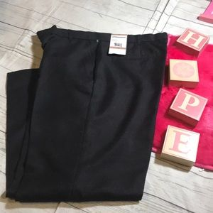 Sag Harbor Petite Polished Black Pant 12P NWT